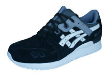 Asics Gel Lyte III Mens Leather Running Sneakers / 90s Retro Shoes - Black
