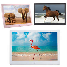 12'' LED Digital Photo Picture Frame HD 1080P Album Movie Music Player SD USB