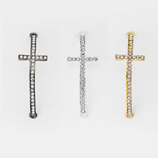 10 Bend Ankh Cross Charms Connector W Crystal Rhinestone Beads Jewelry Findings