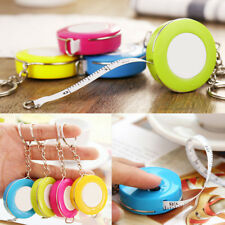 Retractable Ruler Tape Measure Key Chain Key Ring Measuring Tool Candy Color