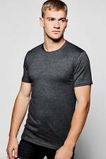 Boohoo Mens Muscle Fit Crew Neck T Shirt