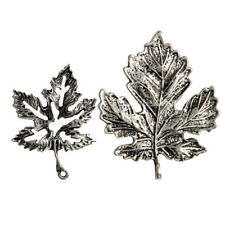 10pc Vintage Antique Alloy Maple Tree Leaf Shaped Charms Jewelry Making Pendants