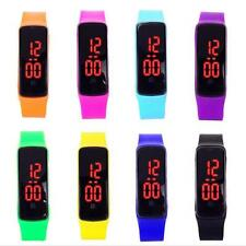 Girls / Boys LED Silicone Touch Screen Ultra Thin Jelly Digital Sports Watch  LS