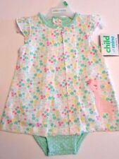 Baby girls one piece outfit Pink Giraffe Tiny flowers Girls clothes 0-3 to 12mos