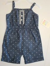 Baby girls romper Chambray Girls shorts One-piece Girls clothes 0-3mos to 12mos