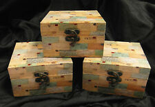 JOB LOT 20 x WOOD/MDF TRINKET BOXES - BICYCLE OR POSTCARD THEME