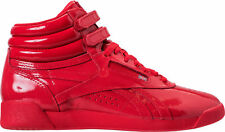Women's Reebok Freestyle Hi Patent Casual Shoes Primal Red CN2821 RED