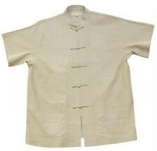 THY COLLECTIBLES Traditional Chinese Embroidered Linen Kung-Fu T-Shirt Tang...