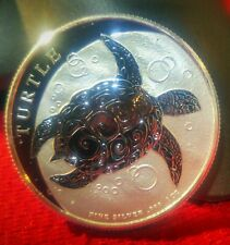 2016 $2 SILVER SEA TURTLE BEAUTIFUL 1 OZ. PROOF .999 SILVER Out of NEW ROLL! WOW
