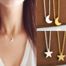 Plated Pendant  Necklace Jewelry Simple Women 1pc Hot Crescent Moon Charming