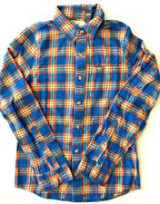 Hollister by Abercrombie Men's NWT Hollywood Blue Orange Plaid Flannel Shirt Med