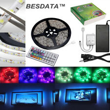 5M 300LEDs 3528 RGB SMD LED flexible strip rope light waterproof Car Home Garden