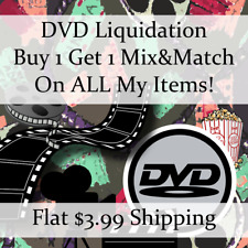 Used Movie DVD Liquidation Sale ** Titles: A-B #639 ** Buy 1 Get 1 flat ship fee