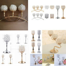 Elegant Crystal Tealight Candle Holders Candlestick Wedding Table Centerpiece