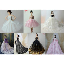 Handmade Wedding Dress for Barbie Dolls Princess Evening Party Clothes Wears