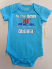 Baby creepers Clothes Bodysuits Baby girls Baby boys Spanish Variety NB-24 mos