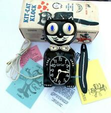 80s ELECTRIC-KIT CAT KLOCK-KAT CLOCK- BLUE EYES-VINTAGE-ORIGINAL MOTOR-RE-BUILT