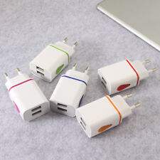 Europe EU Plug Safe LED USB AC Charger Adapter 2 Ports Travel charger For iPhone