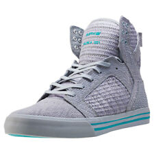 Supra Skytop Woven Mens Trainers Grey New Shoes