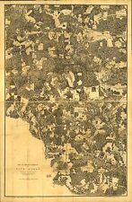 Poster Print Antique American Military Map Five Forks Battlefield