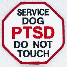 """PTSD Service Dog Do Not Touch Stop Sign Patch 3"""" Medical Assistance Support"""