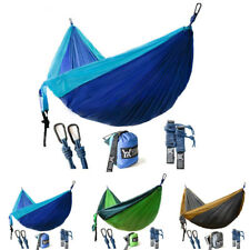 New Double Camping Hammock Lightweight Nylon Portable Hammock Safe Outdoor Tools