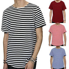 Men Stylish Tee Slim Fit Casual T-shirts Striped Shirt Fashion Short Sleeve Tops