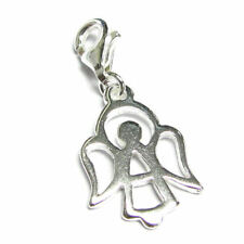 Sterling Silver Angel Holiday Dangle Clasp Clip Bead for European Charm Bracelet