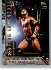 2017 Topps Legends of WWE Legendary Bouts Wrestling Cards Pick From List