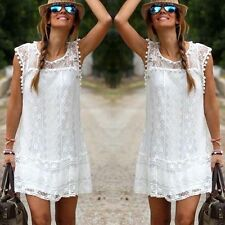 Sexy Women's Summer Casual Sleeveless Evening Party Beach Short Mini Dress 6-14