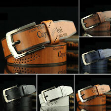 Men's Fashion Casual Faux Leather Hollow Waistband Waist Belt Business Gift Hot