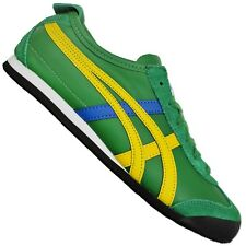 Asics Onitsuka Tiger Mexico 66 Sneaker Women's Shoes Suede Green Yellow Blue