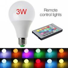 E27 3W 85-265V RGB LED Lamp Light Bulb Changing 16 Colors +IR Remote Control #KK
