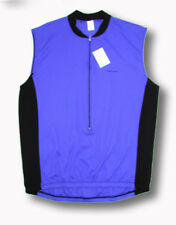 Ascent Two-Tone Men's Sleeveless Cycling Jersey Blue Black bike bicycle
