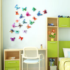 21PCS 3D Butterfly Wall Stickers Art Decal Home Room Decorations Decor Kids