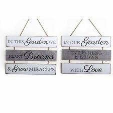 Hanging Large Wooden Garden Lovers Quotes Plaque Vintage Sign Shabby Chic Gift
