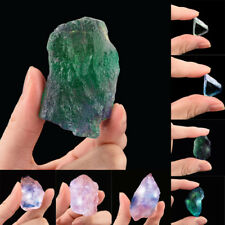 Natural Irregular Crystal Quartz Healing Fluorite Wand Stone Purple Green Gem