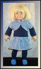 "Doll Clothes Made 2 Fit American Girl 18""  3pc T-shirt Dress Leggings Shrug Navy"