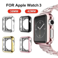 Slim Full Body Cover Snap On Case Tempered Glass for iphone Watch 38/42mm