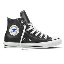 Converse Chuck Leather All Star Trainers Unisex Black