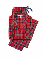 New Victoria's Secret Flannel Pajamas PJ Set Red Green Plaid XS S M XL Victorias