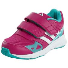 Adidas Hyper Fast CF Children Sport Shoes 3s Ess Baby Trainers Pink White 22