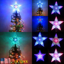 Multi Color Changing LED Santa Tree Topper Star Lights Outdoor Party Decoration