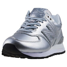 New Balance Wl574 Glitter Punk Womens Trainers Silver New Shoes