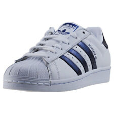 adidas Superstar Womens Trainers White Purple New Shoes