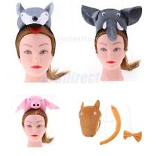 3/set Kids Animal Costume Accessories Headband Tail Bow Tie Party Fancy Dress