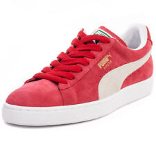 Puma Suede Classic Unisex Trainers Red White New Shoes