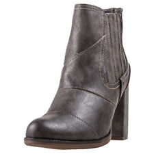 Mustang Heeled Ankle Boot Womens Boots Dark Grey New Shoes