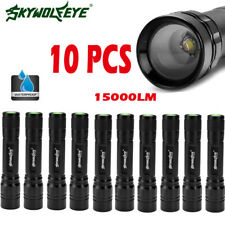 10PCS Tactical Zoomable 15000LM 3 Modes T6 LED Flashlight Torch Lamp Light Top