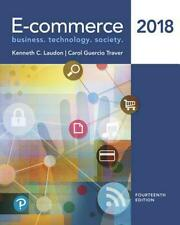 E-commerce 2018 by Kenneth C. Laudon Hardcover Book Free Shipping!